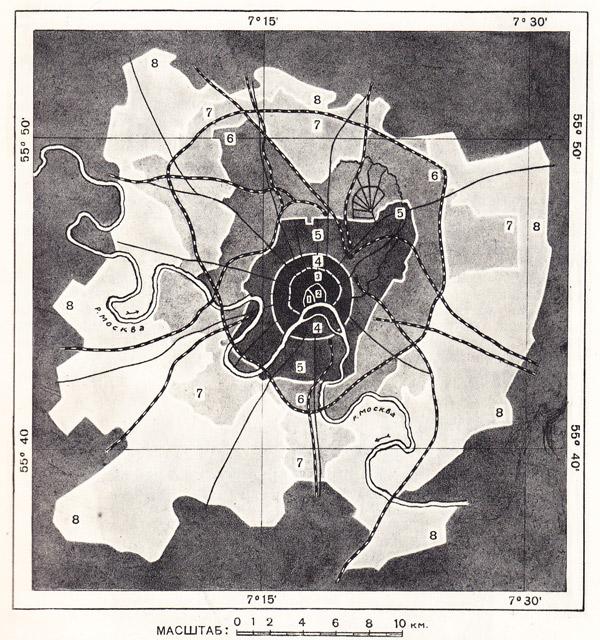 Схема роста территории Москвы